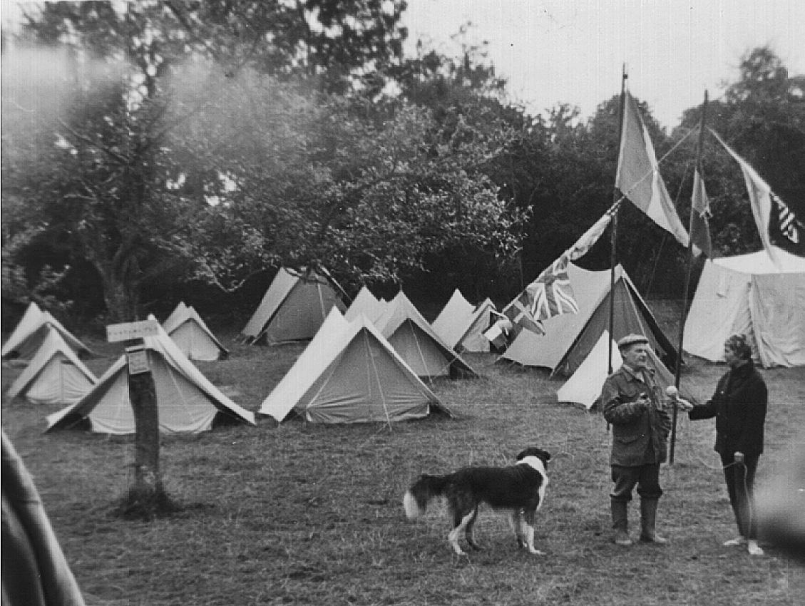 Les tentes des garçons