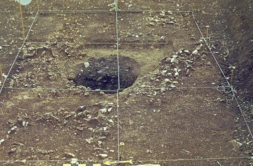 Entrée de galerie de mines néolithiques