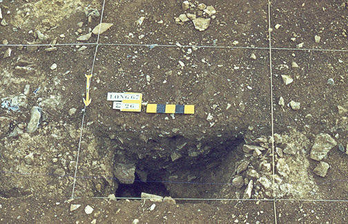 Entrée de galerie de mine néolithique
