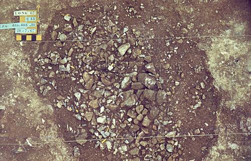 Structure U44 à - 0,10 cm entrée de mine néolithique