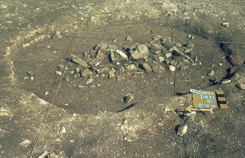 structure U44 à - 0,15 cm entrée de mine néolithique