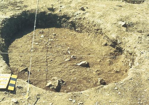 structure U44 à - 0,30 cm entrée de mine néolithique
